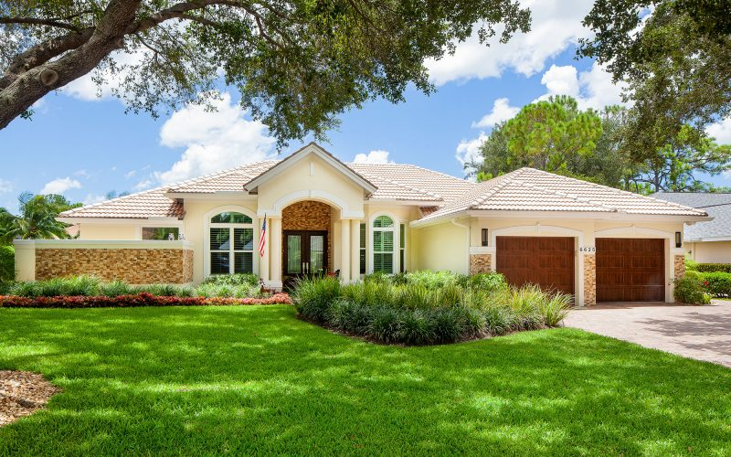 Home with Stone Accent | The Community Association for Mill Run, Collier County, Inc.